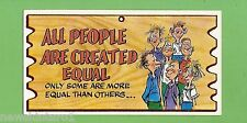 #D256. 1982 SCANLENS WACKY PLAK #76  ALL  PEOPLE ARE  CREATED EQUAL