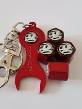 VAUXHALL BLACK TOP RED DUST VALVE CAPS & SPANNER/KEYCHAIN FOR ALL MODELS ZAFIRA