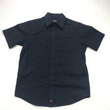 Jesse James Button Up Shirt Mens Small Black Workwear Short Sleeve