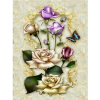 Flower Painting Embroidery DIY 5D Diamond Cross Stitch Kit Home Arts Decor E0Xc