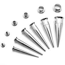 Set Dehnstab Tunnel 3-10mm Dehner Flesh Tunnel Piercing 2in1 Edelstahl Piercing