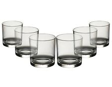 Roltex Unbreakable Reusable Polycarbonate LARGE Plastic Whiskey/Juice Glasses