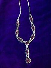Silver Plated Diamante Vintage Costume Necklaces