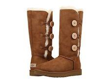 Para Mujeres Zapatos Botas ugg bailey botón Triplete II 1016227 Castaño * Nuevo *