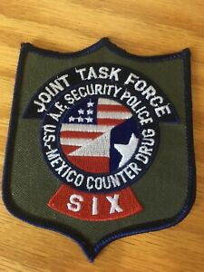 Joint Task Force AE Security US-Mexico Counter Drug SIX Police Patch