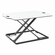 Height adjustable.Sit and Stand Tabletop Workstation. DWS08-01 white
