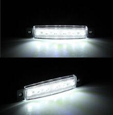10V-30V 6-LED White Side Marker Light/Clearance Lamp - Trailer/Truck/RV BL