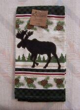Moose Kitchen Terry Towel Kay Dee Woodland Moose Pattern