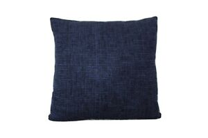 Navy Blue textured decorative sofa cushion cover, 45X45cm (18x18 inch)