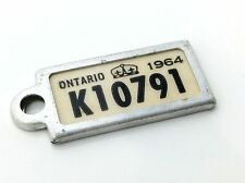 1964 Ontario Canada War Amps Mini License Plates Mail Car Key Return Tags A713