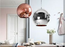 Modern Metallic Copper / Chrome Plating Globe Ceiling Pendant Light Shade Shades