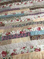 Handmade Patchwork Quilt/ Throw 52 X 72 Ins