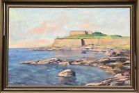 Unknown Impressionist - Rocky Coastal Landscape - Baltic Sea - North - 109x75