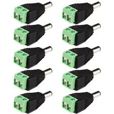 10x DC 5.5 x 2.1mm Power Male Jack Adapter Cable Plug Connector for CCTV / LED