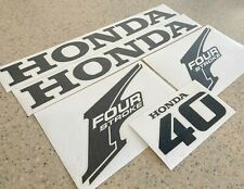 Honda Vintage 40 HP Outboard Motor Decals Die-Cut FREE SHIP + Free Fish Decal!