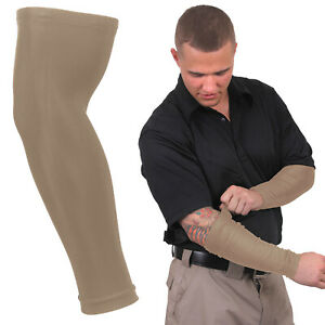 2 Pack Tactical Forearm Sleeve Compression Band Arm Skin Cover Up Tattoo Sports