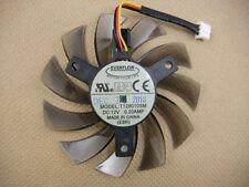 75mm 12V 0.2A 3pin T128010SM Fan VGA Video card GTX580 GTX670 560ti M3200 QL