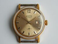 Vostok Russian Mens Watch Mechanical 2605 Watch 17 Jewels Gold plated, Vintage!