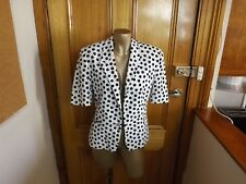 Simona 100% Cotton Jacket ~ Size 10 ~ Black and White Spot