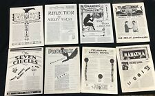 1940S-1950S Assorted Magic/Magician Newsletter/Bulletin/Perio dical Lot (8) Nice!