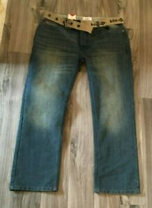 Lee Cooper Men's Blue  Straight Fit Jeans 34 Waist 30 Leg New With Tags #1774