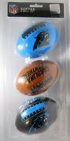 Softee 3 Ball Set Of  Carolina Panthers NFL Mini Soft Footballs, New & Sealed