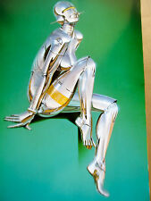 Hajime Sorayama SILVER FEMALE ROBOT Seductress Nude Female Robot 17x12