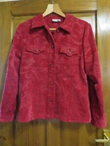 OSCAR B LADIES RED JACKET SIZE 16  - HOUSE CLEARANCE