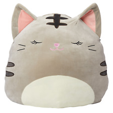 Jumbo Squishmallows Plush Tabby Cat Machine Washable Ultra Soft Spandex 24 inch