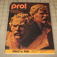 PRO! Oct 15, 1972 EAGLES Vs RAMS Philadelphia, PA Program in Fair Condition