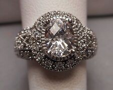 w/ oval 2 ct Cz - Size 6.5 Ladies' Art Deco Style Ring - Sterling 925 Filigree