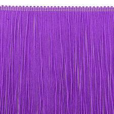 "CLEARANCE!  33"" Remnant  11"" Neon Violet Nylon Chainette Fringe Trim"