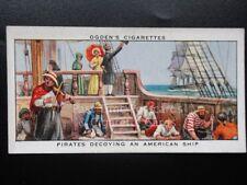 Single: No.25 PIRATES DECOYING AN AMERICAN SHIP - Sea Adventure - Ogden's 1939