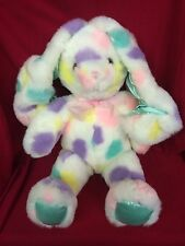 Commonwealth 2001 Toy Novelty Colorful Easter Bunny Rabbit Teddy Bear Soft Plush
