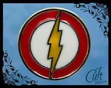 DC Comics The Flash small metal and enamel Pin Badge Free UK post.