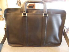 UNISEX COACH Lexington Black Leather Executive Briefcase Attache Bag