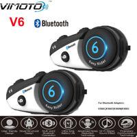 2x Vimoto V6 Headset BT-3.0 Fahrrad Kopfhörer Interphone Stereo GPS / Sat Nav