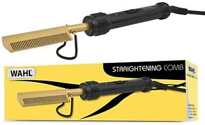 Wahl ZX698 GOLD Afro Mains 200C Electric Straightening Comb Original /Brand New