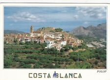 Costa Blanca Polop Spain Postcard used VGC