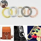 5 Pcs Circle Round Carabiner Hook Keyring Buckle 28mm Snap Clips Keychain