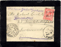 2153 IRELAND 1913 re-directed cover from BELFAST to NEWTOWNARDS then diverted to