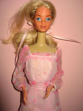 B305-ALTE BLONDE KISSING BARBIE #2597 MATTEL 1978 ORIGINALES ROSA KLEID MATTEL