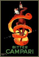 Campari Bitter 1921 Orange Dance Vintage Poster Print Cappiello Retro Art
