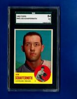1963 TOPPS BASEBALL #463 JOE SCHAFFERNOTH SGC 7 NM CLEVELAND INDIANS