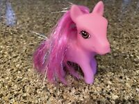 My Little Pony Pink Pegasus Sparkly Pink Hair Soft Vinyl Greenbrier Intl CUTE!