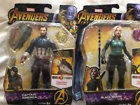Marvel Avengers Infinity War Figures Captain America Black Widow