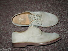Men's Taupe Suede Leather Oxfords BROOKS BROTHERS Sz 8 D