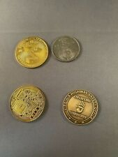 Lot of 4 Challenge Coins 2=Montary Metals, Checkpoint Strickforce, CCCP