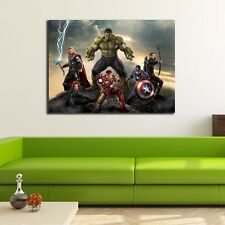 30x40x3cm Avengers Stretched Canvas Print Framed Wall Art Kids Home Decor Deco