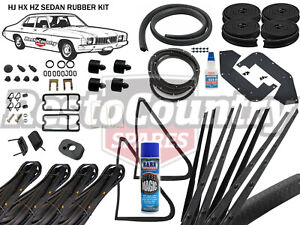 Holden Sedan Complete Body Rubber Kit HJ HX HZ BLACK Pinch door weather seal